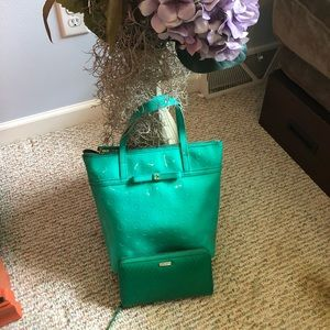 Kate spade tote and wallet combo